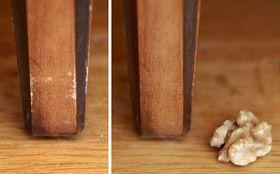 Tip: Ako odstrániť škrabance na nábytku s orechom