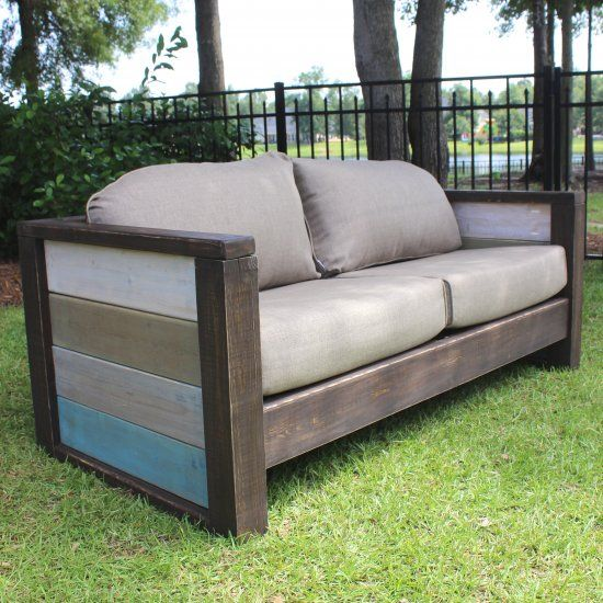 This awesome planked outdoor loveseat would be a great addition to any outdoor space. Check out the free plans