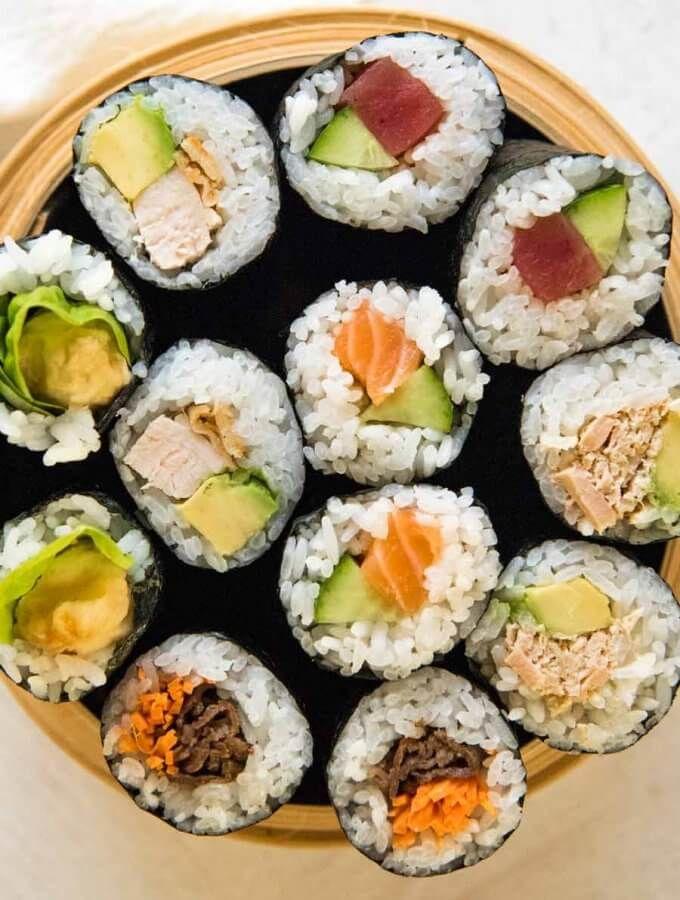 Take Away Sushi Rolls Recipetin Japan Recipe Homemade Sushi Sushi Rolls Sushi Recipes Homemade