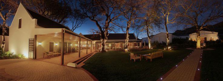 La Motte courtyard at night. #lamotte #estate #franschhoek