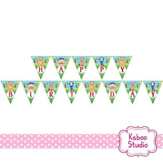 Printable Playschool Happy Birthday Banner by KabooStudio on Etsy
