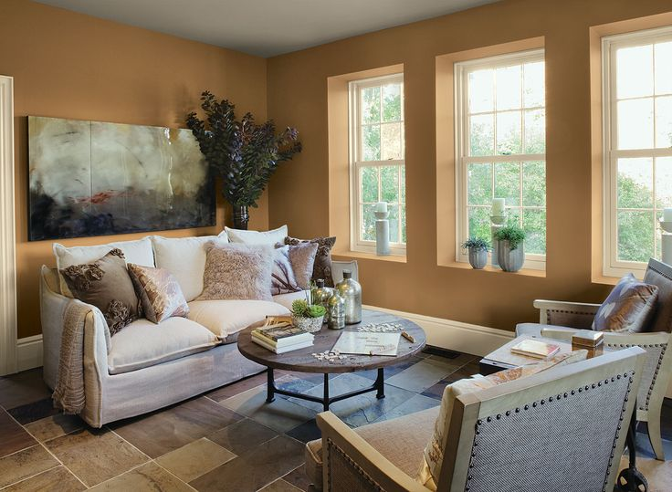 Living room ideas inspiration paint colors orange for Living room color ideas