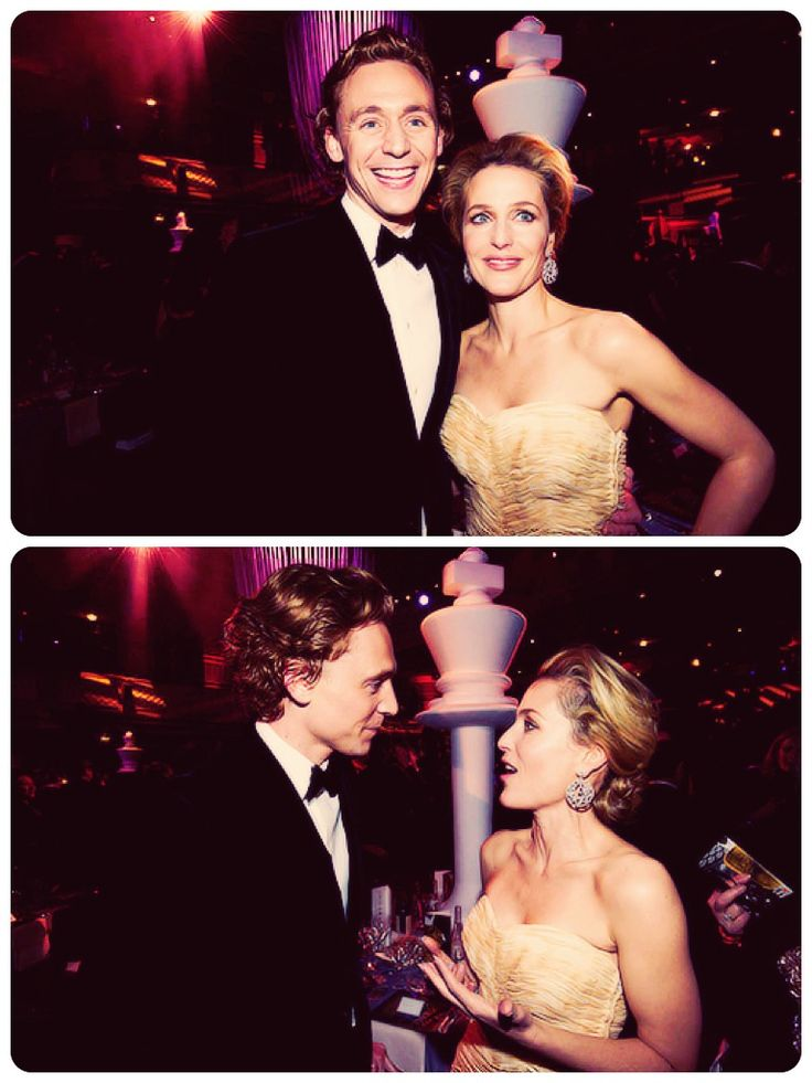 Tom Hiddleston and Gillian Anderson....awesome!