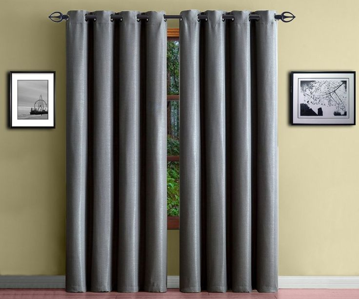 Elegant Warm Home Designs 1 Panel Of Extra Thick Premium Light Charcoal Insulated  Thermal Blackout Curtains