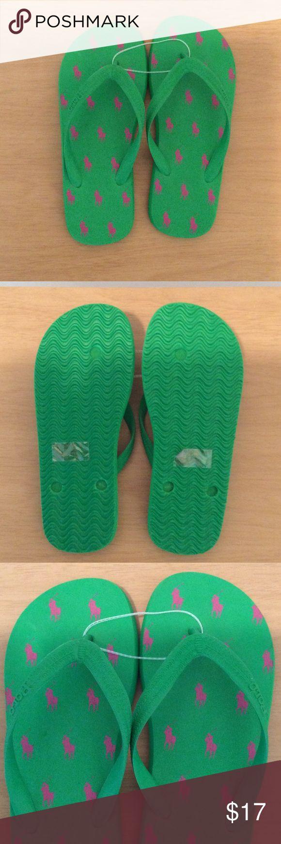 💥SALE💥 Casual look. Polo Pink & Green Flip Flops Pink & Green Polo Flip Flops. Never Worn! Polo by Ralph Lauren Shoes Sandals