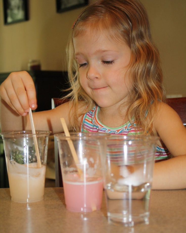 Marshmallow Science Theme: 1of 4-Experiment-Kids discover what happens when colored marshmallows dissolve in water