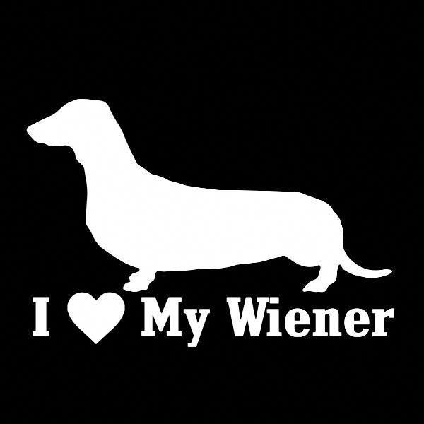 I Love My Wiener Dog Vinyl Car Window Decal Wiener Dog Car Window Decals Diy Dog Gifts