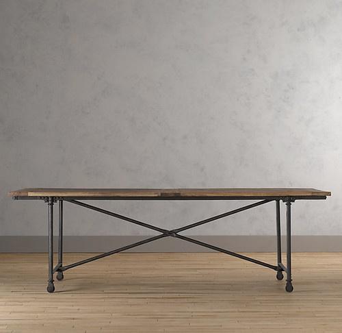 Flatiron Dining Table Traditional Dining Tables Restoration Hardware Furniture