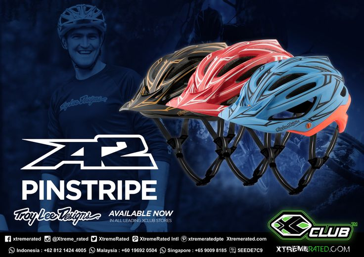 TLD MTB A2 HELMET MIPS PINSTRIPE | Available now in all XClub Leading Stores |   #xtremerated #xclub #tldbike #mtb #downhill #gravity #helmet