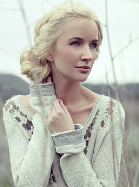 Lovely, Casual Braids  Model/actress Farris Patton ~She has such beautiful skin & hair color.~