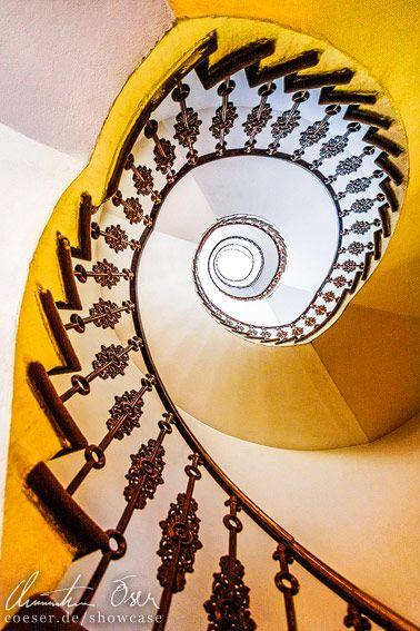 Spiral Staircase in Prague, Czech Republic