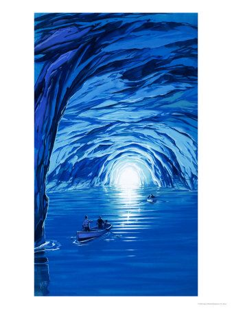 the blue grotto - capri this was truly one of the wonders of the world a cool experience put it on your bucket list