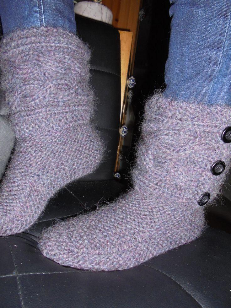 strikkede tøfler