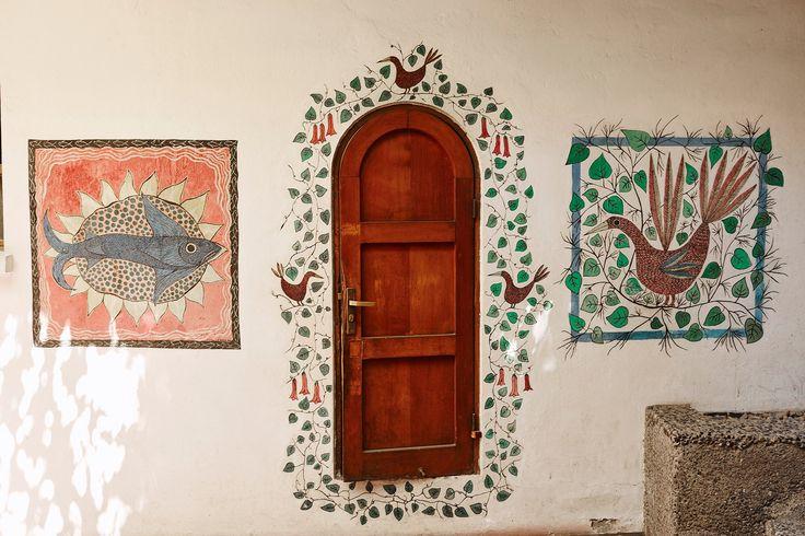 Murals painted on Pablo's Santiago home (pc: Nacho Alegre)