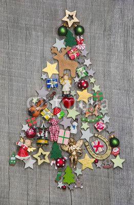 Weihnachtsbaum - Weihnachten Dekoration mit Holz