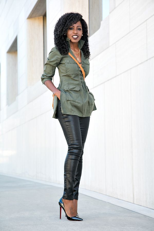 Military Inspired Tunic + Coated Jeans | Style Pantry | Bloglovin'