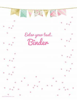 Free printable custom binder cover template. Instant download.