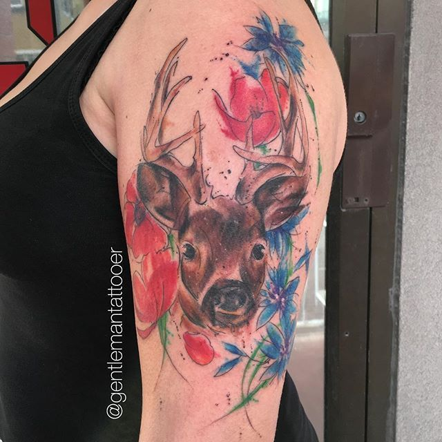 2017 trend Watercolor tattoo - Abstract Watercolor Tattoos by Ryan Tews – staciemayer.com...