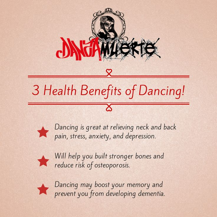 3 Health Benefits of Dancing! https://www.facebook.com/DanzaMuerteShoes