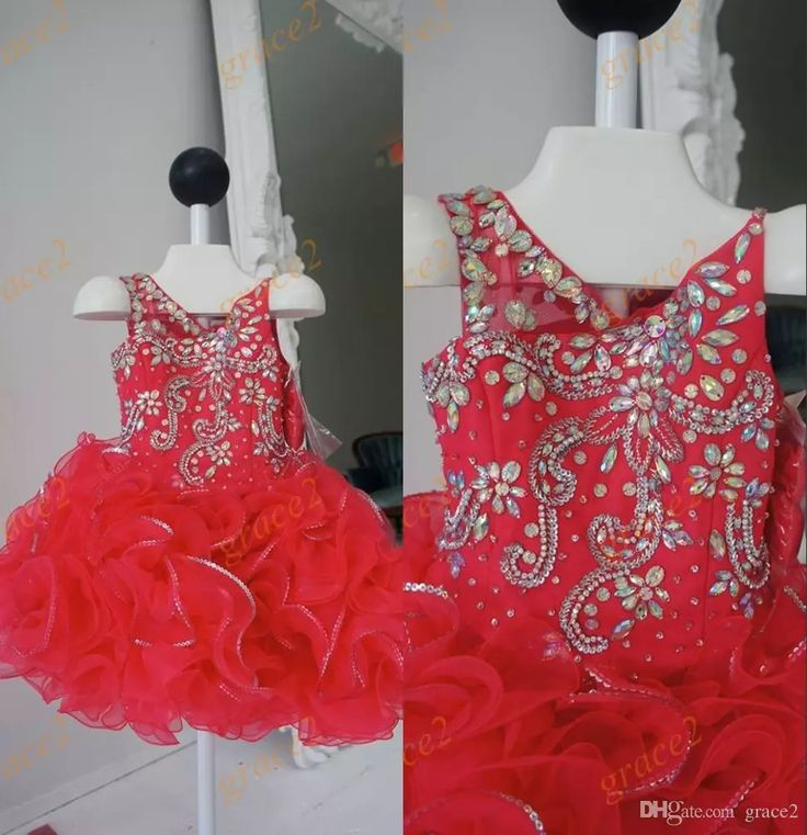 Ritzee Pageant Dresses for Little Girls 2017 with Beaded V Neck And Tutu Skirt Red Girls Prom Dresses Custom Made Baby Party Dress Infant Pageant Dresses Little Girls Pageant Dresses Baby Pageant Dresses Online with $129.01/Piece on Grace2's Store | DHgate.com