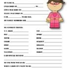 """This is a great back to school questionnaire for students and teachers to get to know one another. It can also be used as a """"Star Student""""/""""Student..."""