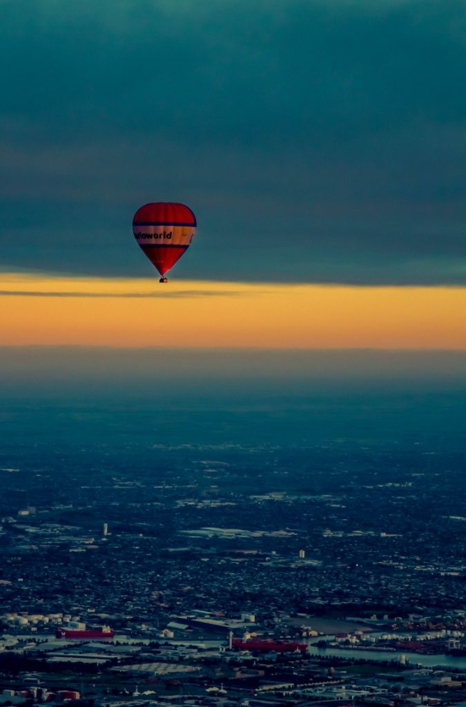 LOVE, LOVE, LOVE this image - one of our favourites over Melbourne! The sky aligns perfectly with the base of the balloon basket. What a sight!  #goglobal #globalballooning #melbourne #yarravalley #seeaustralia #visitvictoria #ballooning #balloonflights #ballooning #bucketlist #proposal #victoria #australia #gift #present #romantic #romance #views #wedding #serenity #sunrise #travelling #weather #sky