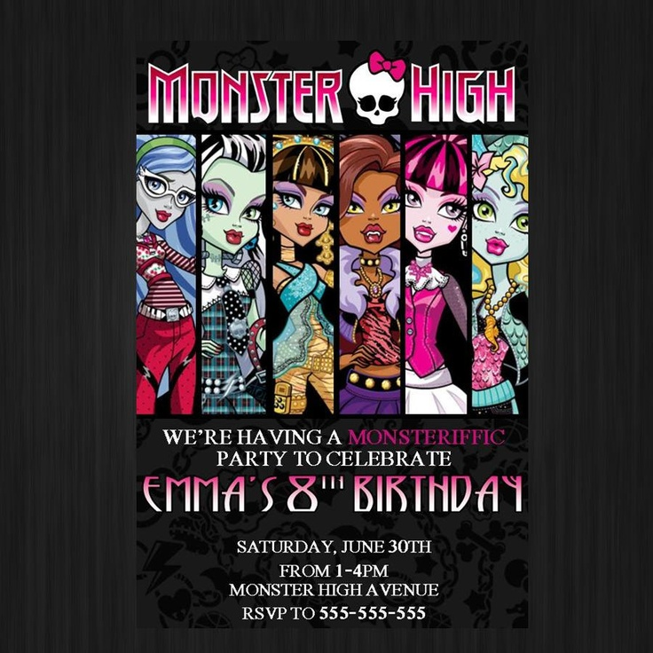 98 best Birthday Party - Monster High images on Pinterest ...