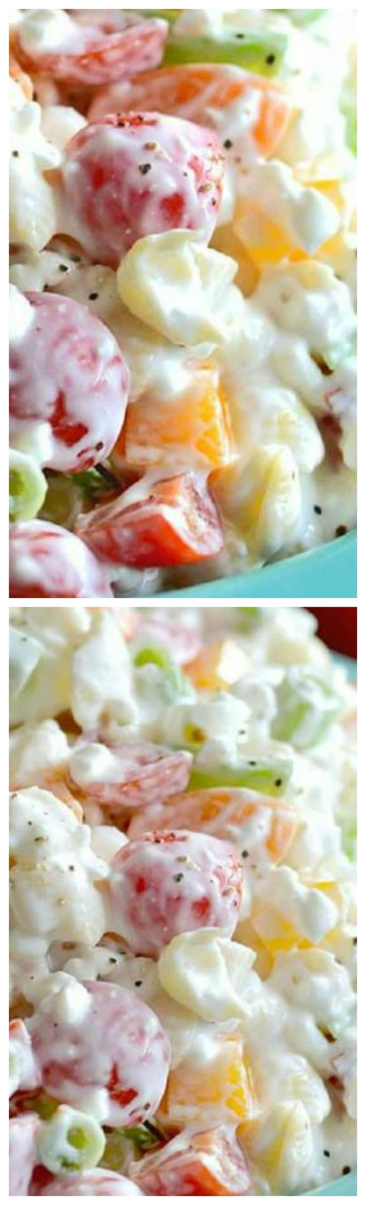 Easy Creamy Pasta Salad ~ A simple and cool make ahead side dish for company or potluck... It's a great way to get your veggies in!