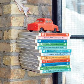 The Old Floating Bookcase Wall Shelf in Shelves & Wall Hooks | The Land of Nod