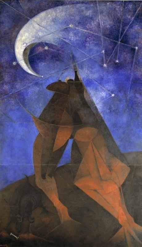 """""""El Hombre (Man),"""" c.1953 by Rufino Tamayo (1899-1991)"""