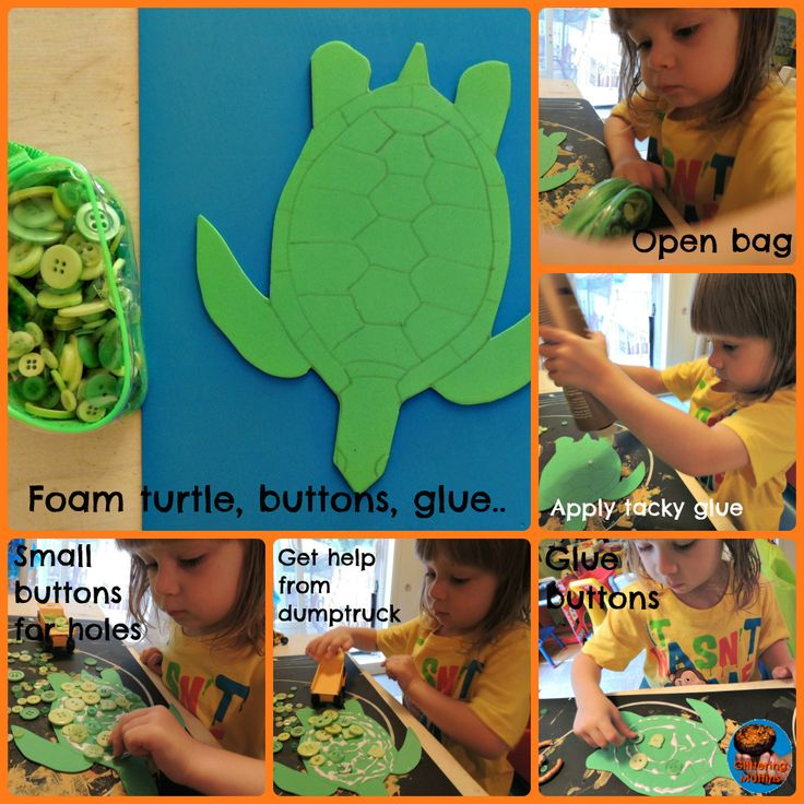 Dot art button turtle - making from Glittering Muffins