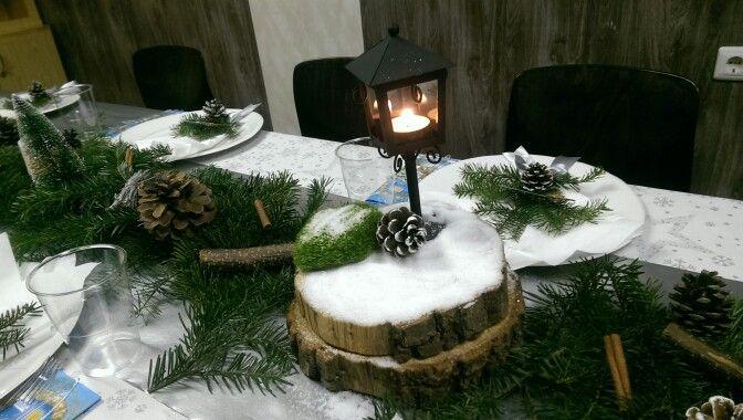 Winter decoration. Small lantern.