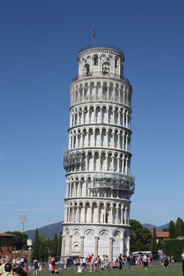 The Leaning Tower of Pisa; Livorno, Italy