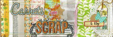 Ma bannière, seconde place au concours de Carnets de Scrap 2012