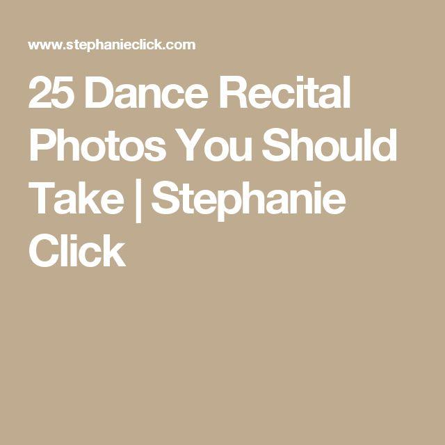 25 Dance Recital Photos You Should Take | Stephanie Click