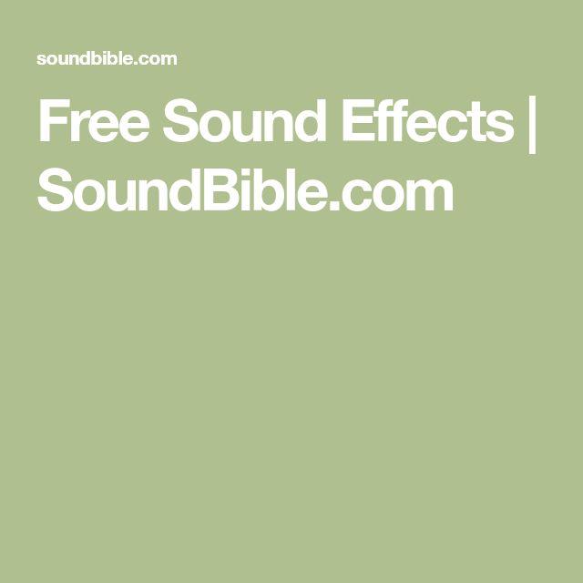 Free Sound Effects | SoundBible.com