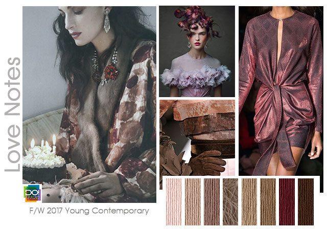 #DesignOptions FW 17/18 color on #WeConnectFashion, Women's Contemporary trend…