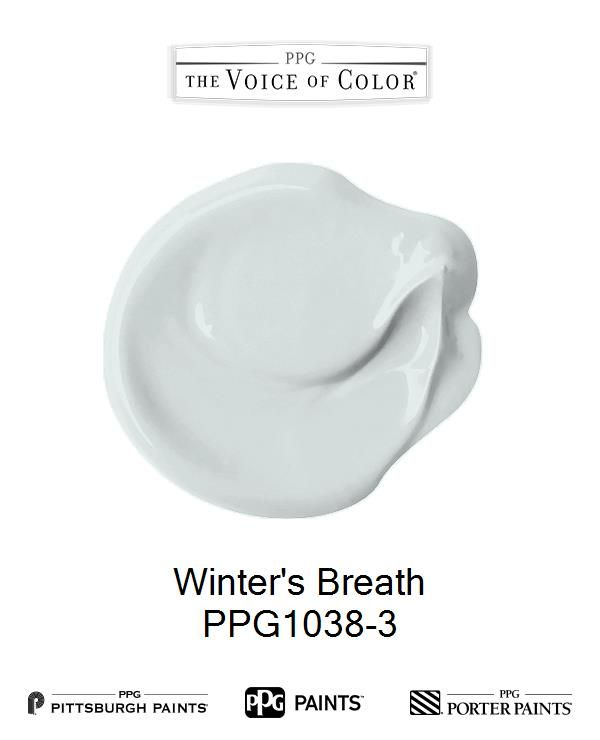 Winter's Breath is a part of the Blues collection by PPG Voice of Color®. Browse this paint color and more collections for more paint color inspiration. Get this paint color tinted in PPG PITTSBURGH PAINTS®, PPG PORTER PAINTS® & or PPG PAINTS™ products.