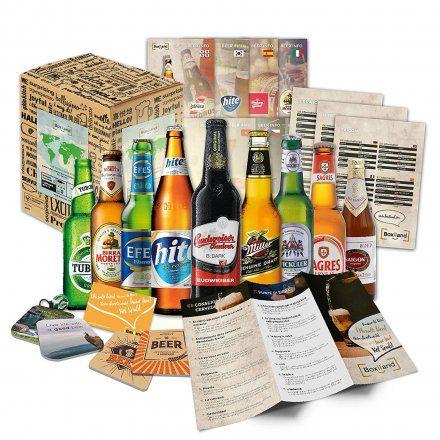 KONSIG / Boxiland GmbH 9 Biere aus aller Welt online kaufen ➜ Bestellen Sie 9 Biere aus aller Welt für nur 29,95€ im design3000.de Online Shop - versandkostenfreie Lieferung ab €!
