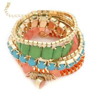 Adia kibur Beaded Bracelet Set $45.00 thestylecure.com