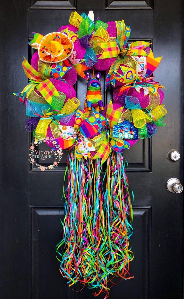Fiesta Wreath-Cinco De Mayo Wreath-Fiesta Deco Mesh   Etsy ...