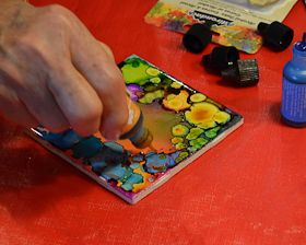 Alcohol Ink CRAfting - directions  and  KEWL 2 !  A craft for older KIDZ