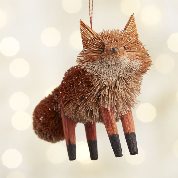 fox christmas ornament