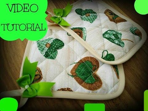 DIY PRESINE DA CUCINA - SEWING TUTORIAL - YouTube