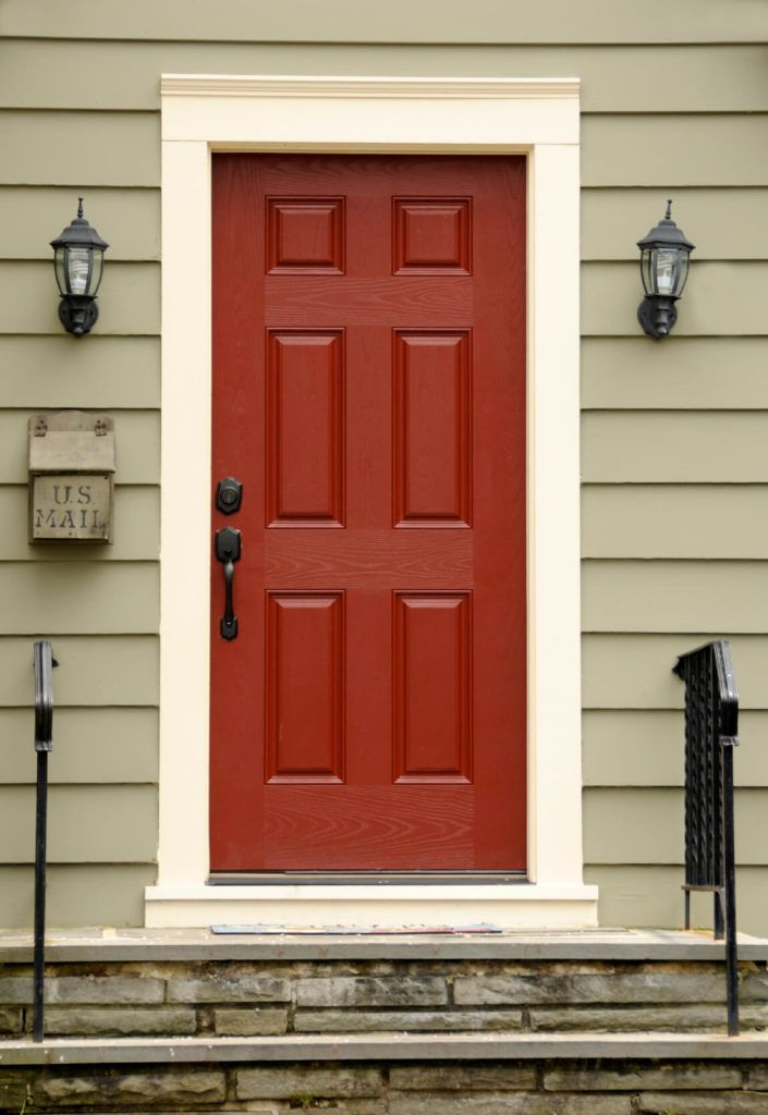 35 Different Red Front Doors Many Designs Pictures Garage Door Design Yellow Front Doors Front Door Paint Colors