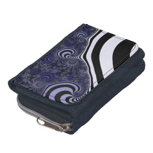 Blue and black striped fractal. wallets #wallets, #customized, personalized, artwork, buy, sale, #giftideas, #zazzle, shop, discount, deals, gifts, shopping, abstract, antenna, art, artwork, bee, black, #blue, bright, cold colors, computer, cool colors, duotone, #fractal, fractal art, fractal artwork, generated, illustration, julia, light, locator, mandelbrot, pattern, paw, square, striped, suction, white, strip, dark, funny strips, modern