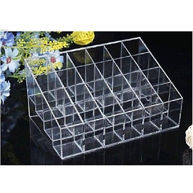Acryl Transparante 4x6 Quadrate Cosmetica opslag Stand make-up kwast Cell Cosmetische Organizer – EUR € 7.99