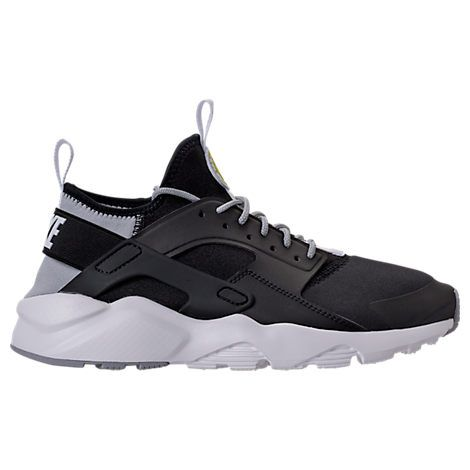 NIKE MEN'S AIR HUARACHE RUN ULTRA CASUAL SHOES, BLACK. #nike #shoes #