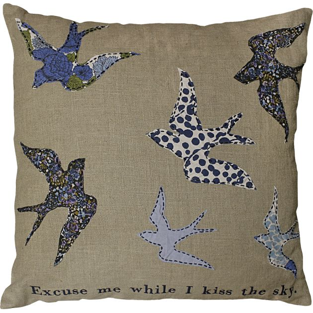 Kiss the Sky Bird Pillow