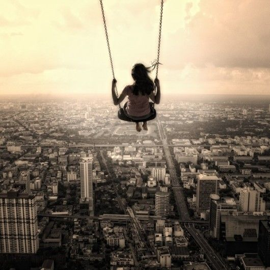 <3Inspiration, Dreams Big, Photos Manipulation, The View, Swings, Digital Art, The Cities, Feelings, Photography